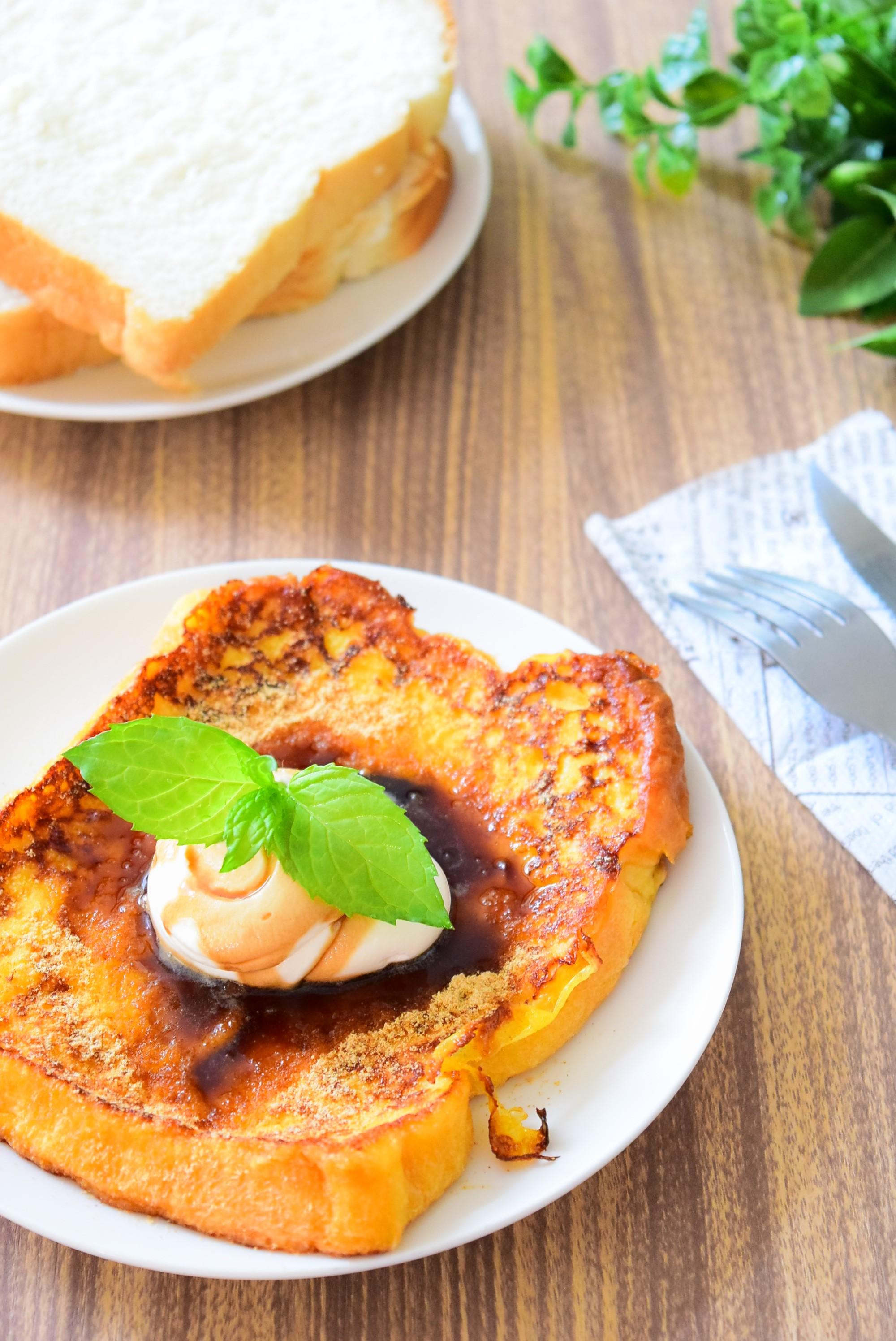きな粉と黒みつがけ和風フレンチトーストのレシピ