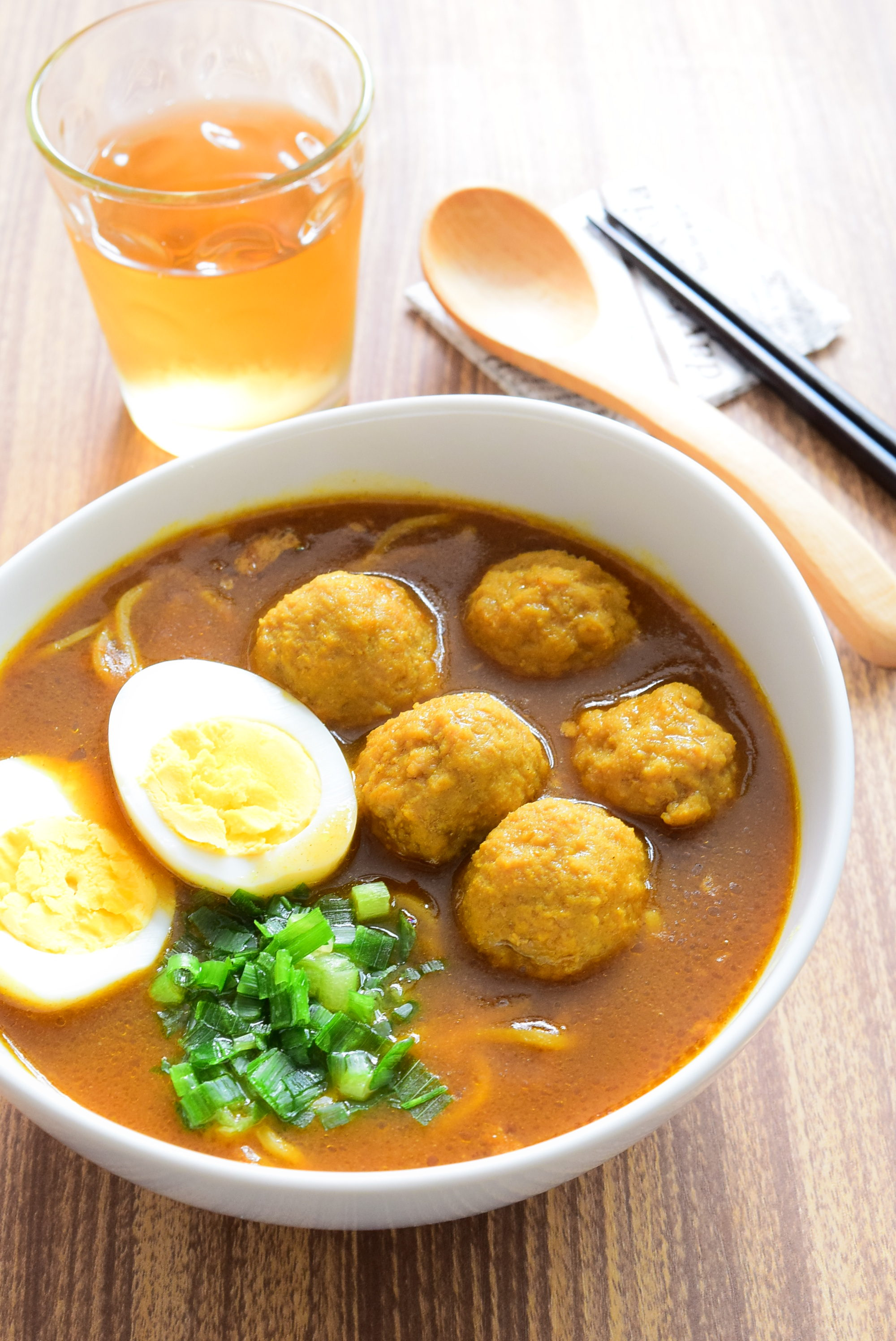 肉団子のカレーラーメンのレシピ