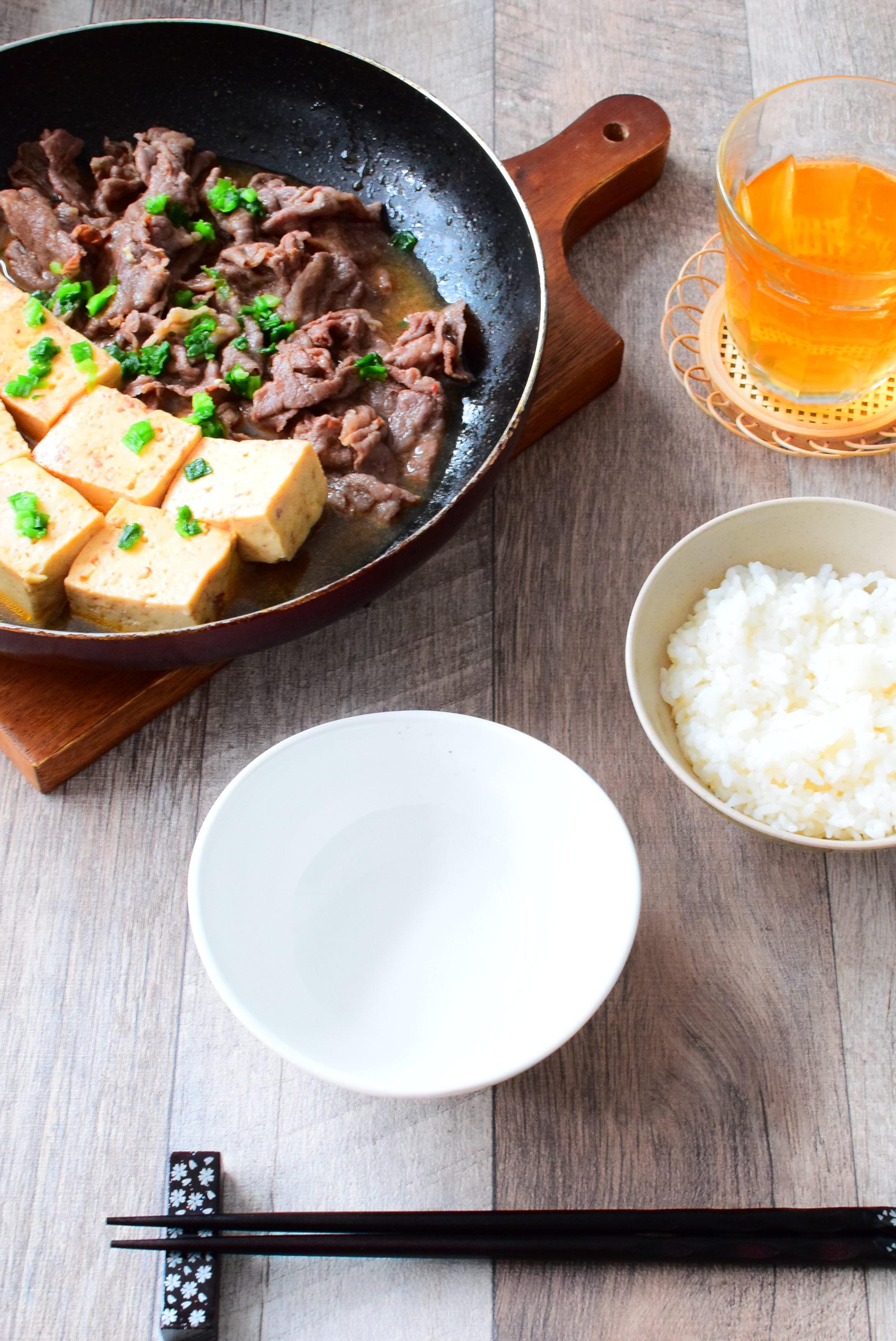 ピリ辛!牛肉豆腐のレシピ