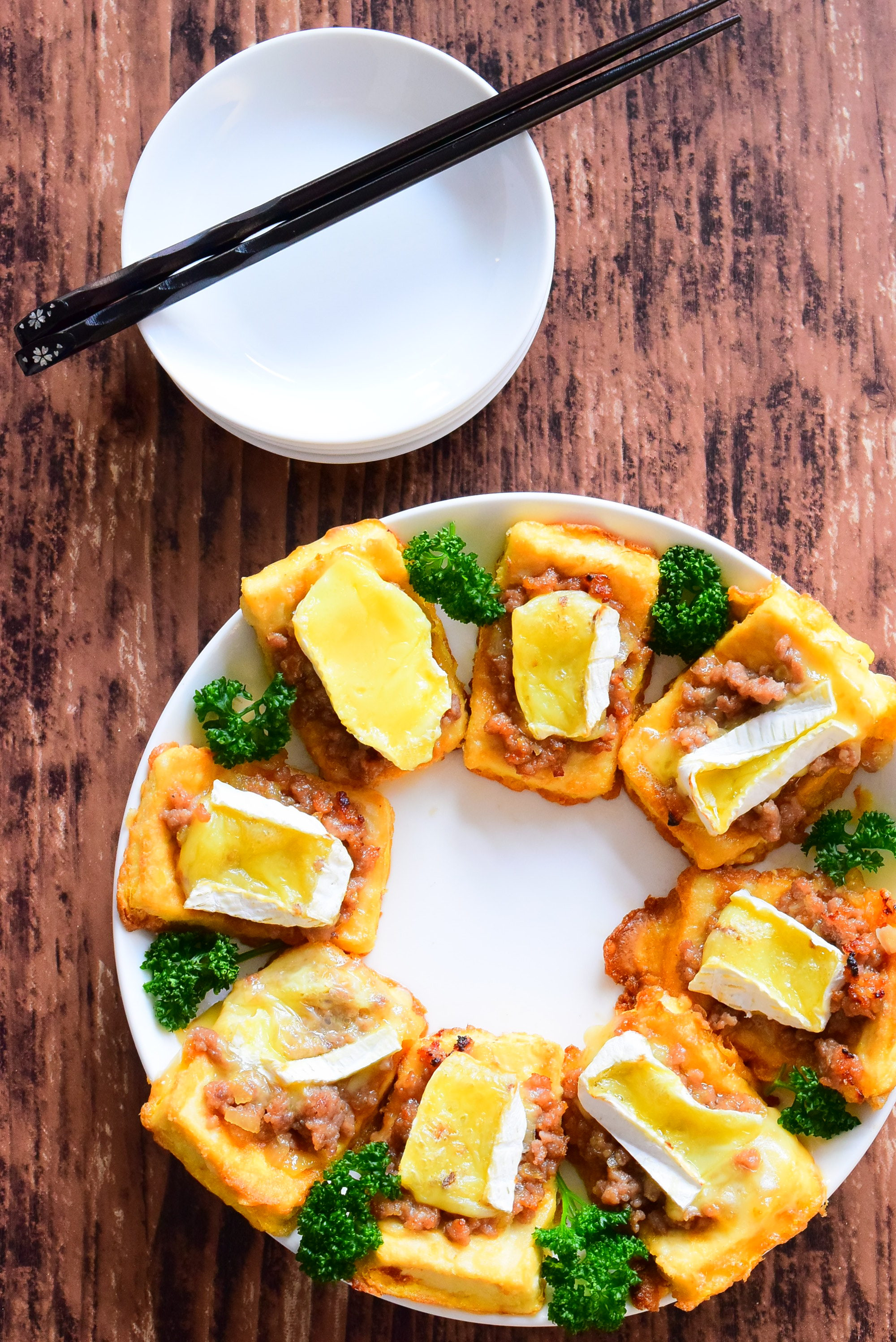 豆腐の肉味噌のせカマンベールチーズ焼きのレシピ