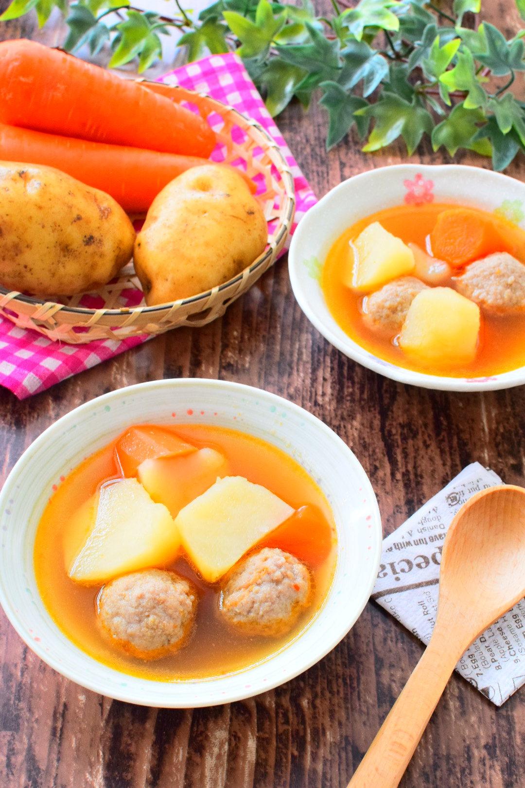 体ぽかぽか!ピリ辛!肉団子の醤油スープのレシピ