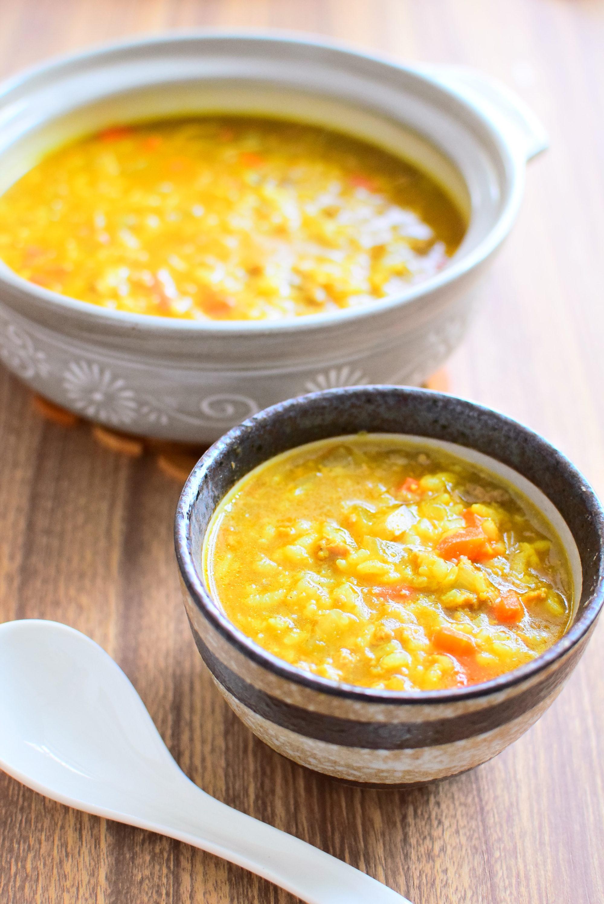 フーフーハフハフ!カレー雑炊のレシピ