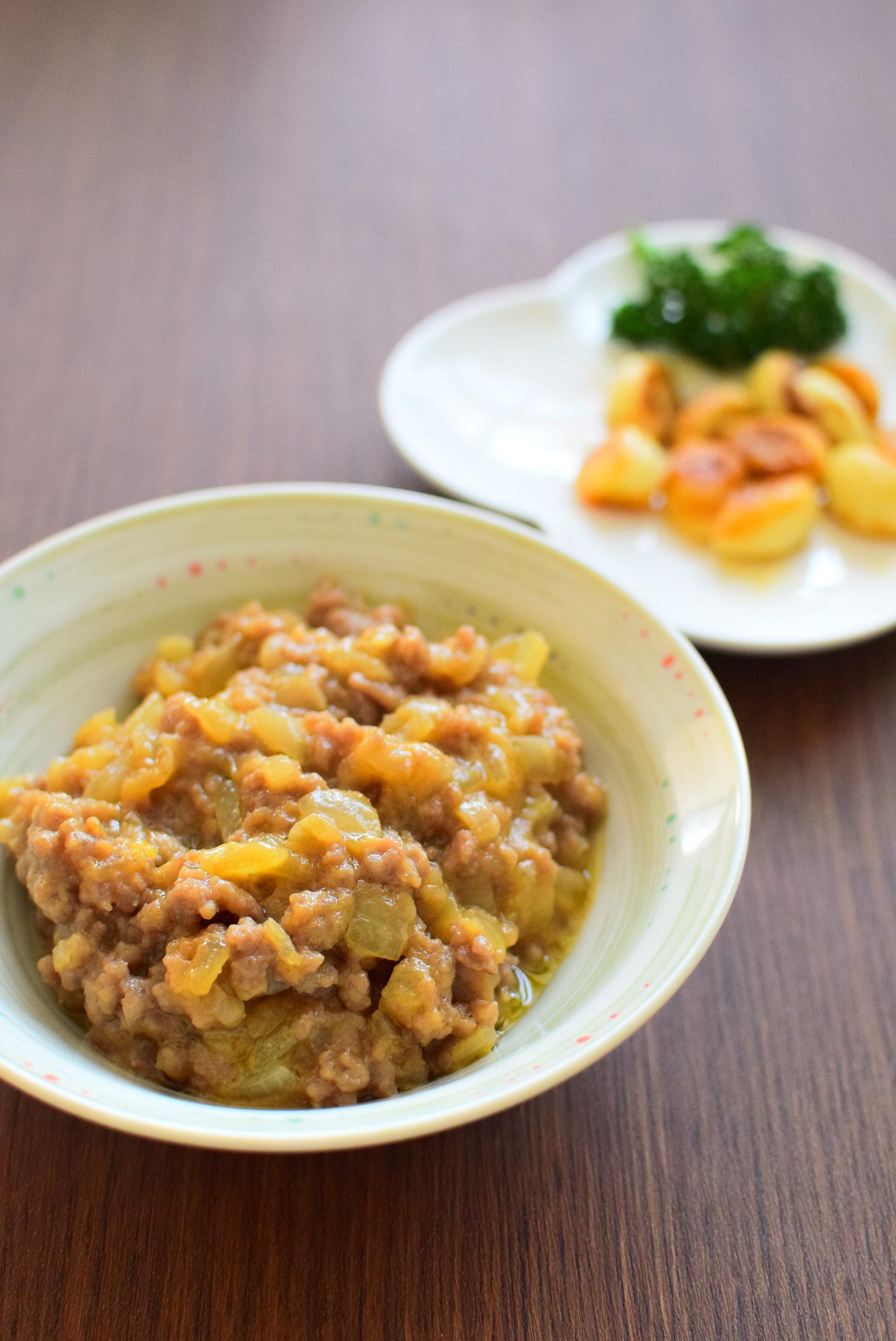 にんにくのオリーブオイル炒め&肉味噌のレシピ
