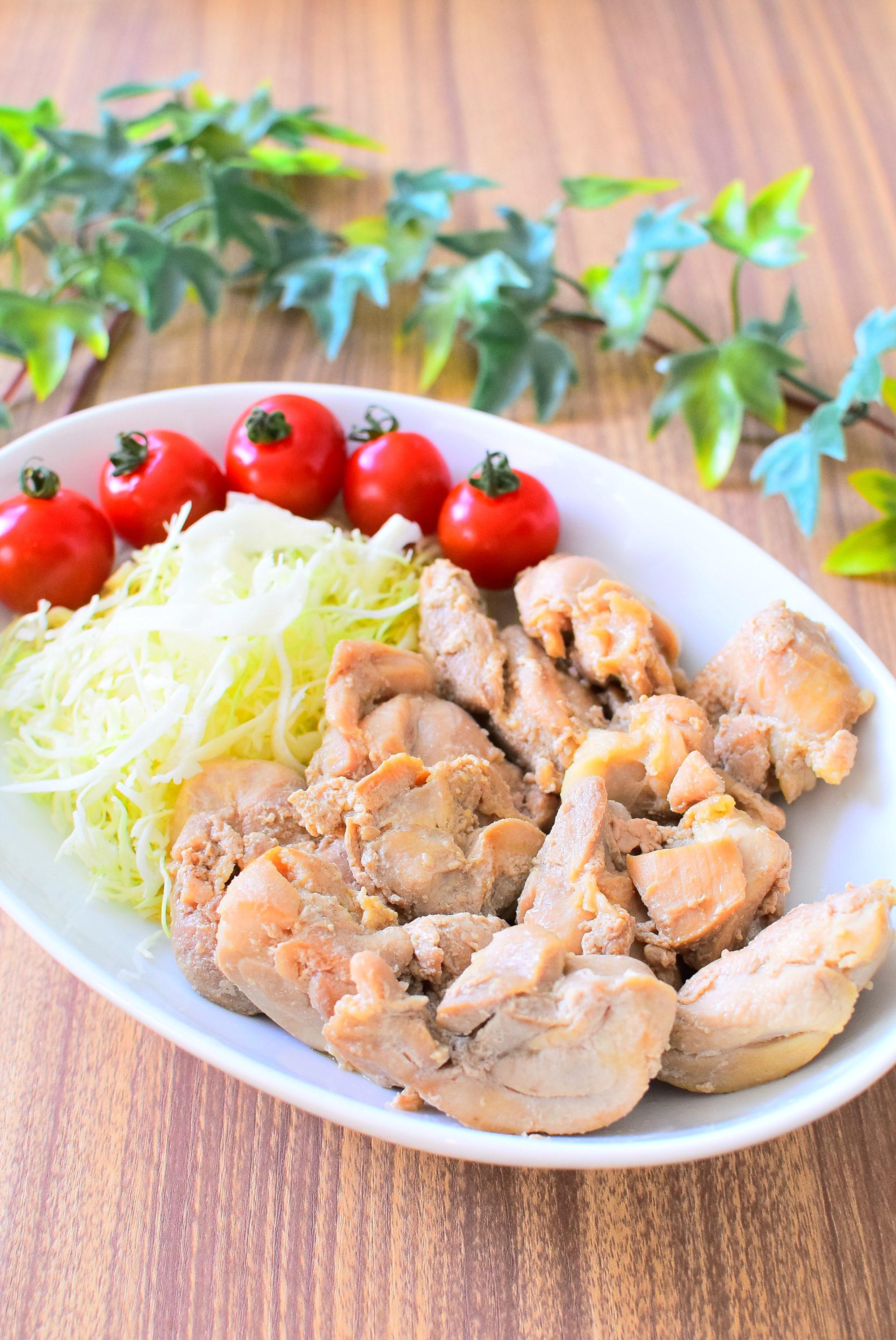 鶏もも肉のにんにく醤油漬け、ごま油炒めのレシピ