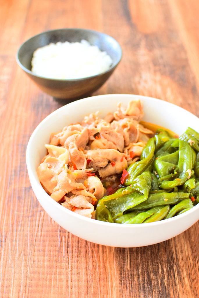 豚バラとピーマンのピリ辛煮のレシピ