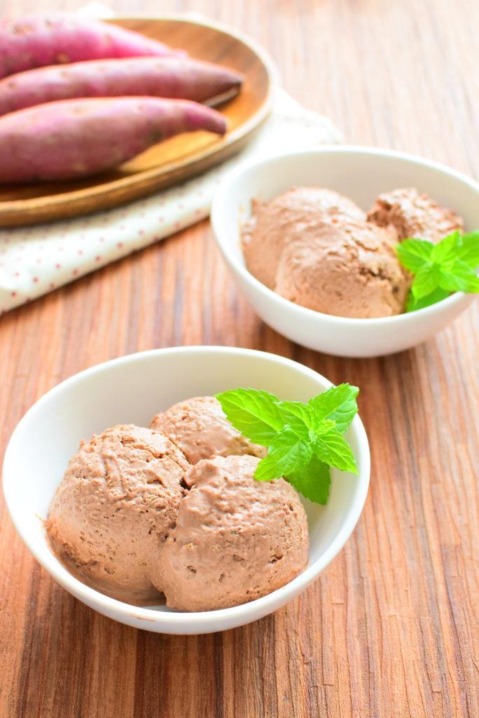 ココアの黒糖さつまいもアイスのレシピ