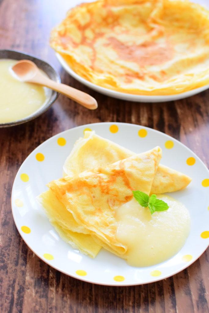 りんごジャムクリームがけクレープのレシピ