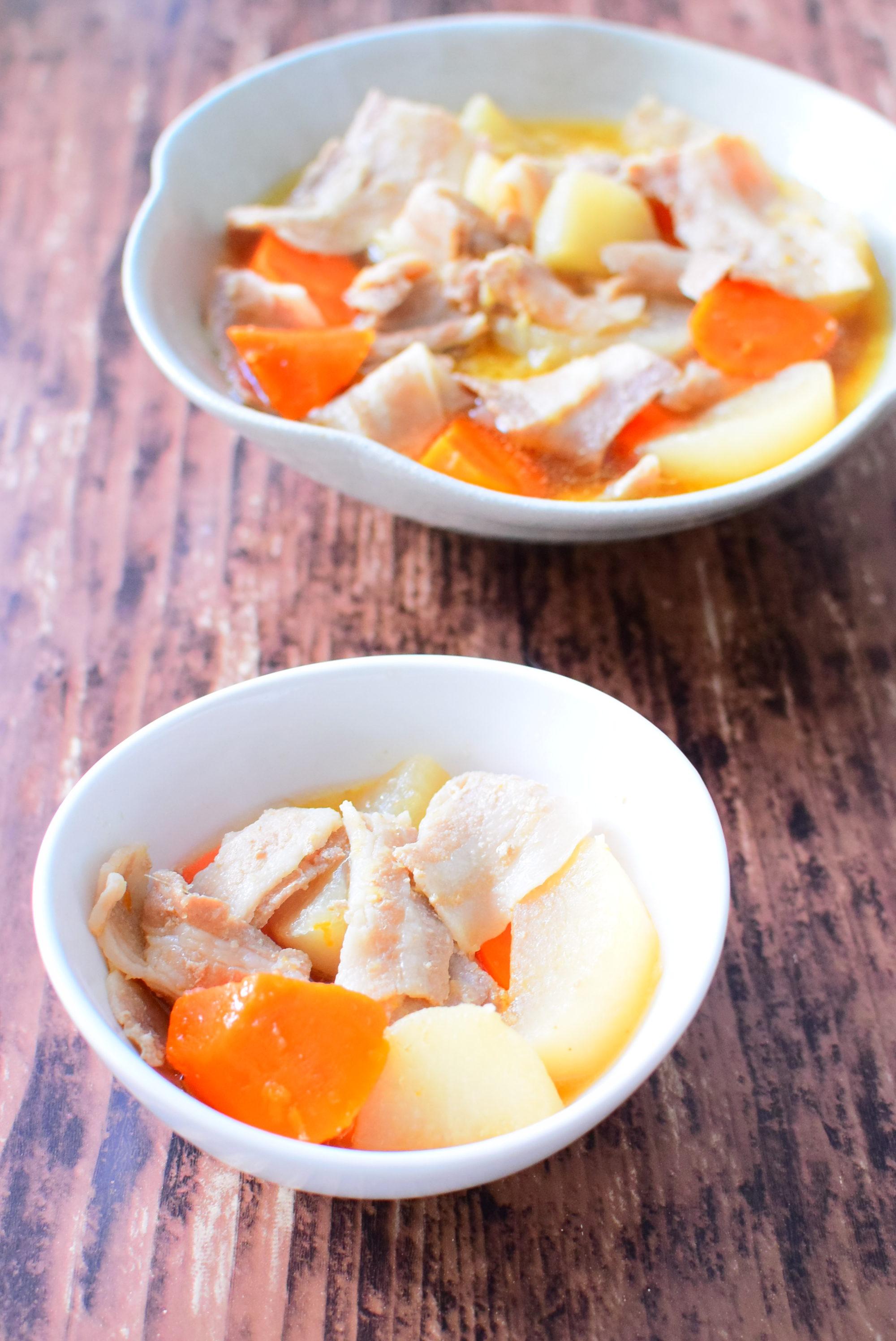 大根とにんじんの生姜じょうゆ煮のレシピ