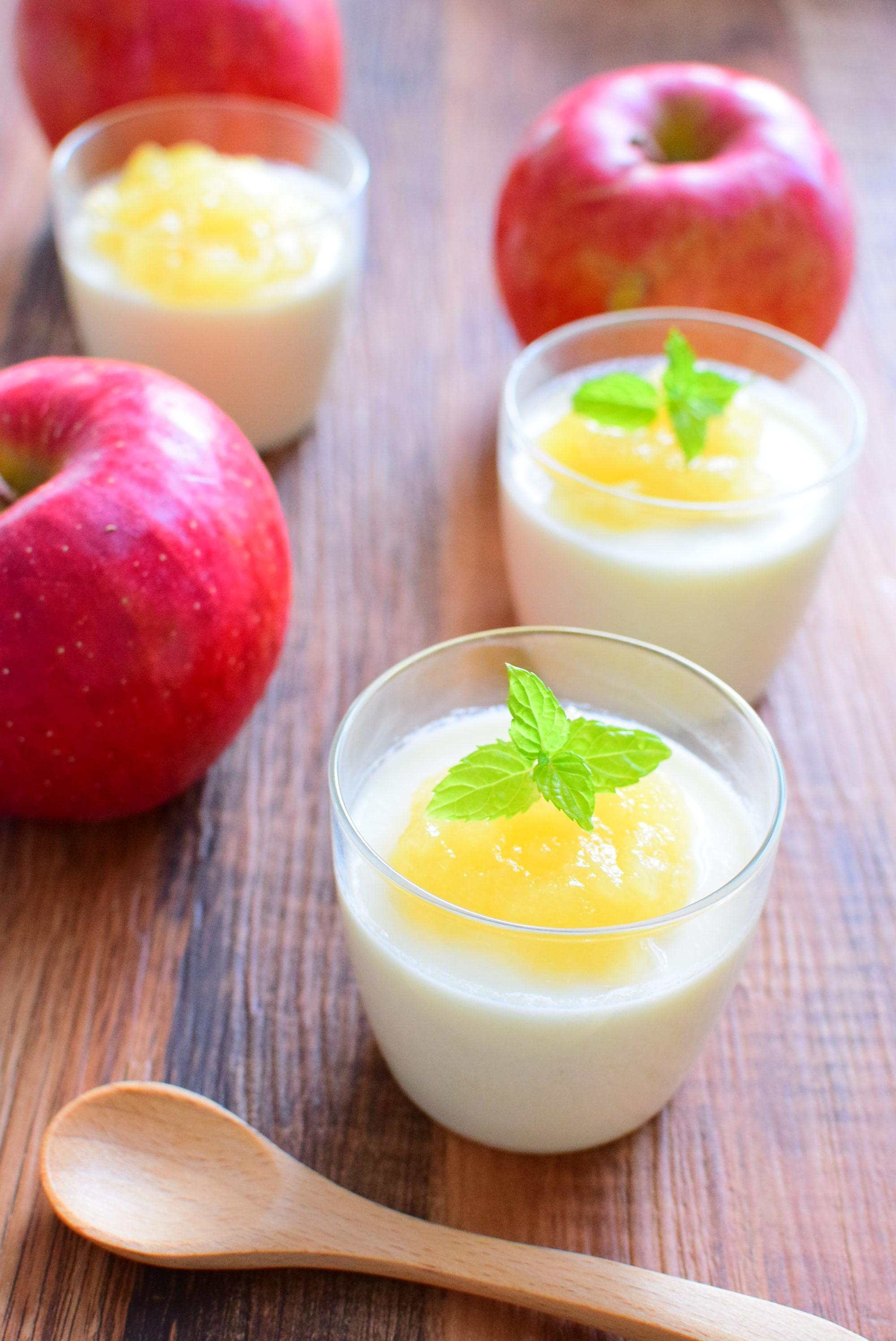 りんごジャム入りミルクプリンのレシピ