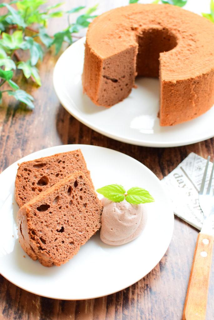 ベーキングパウダー不使用!ココアシフォンケーキのレシピ