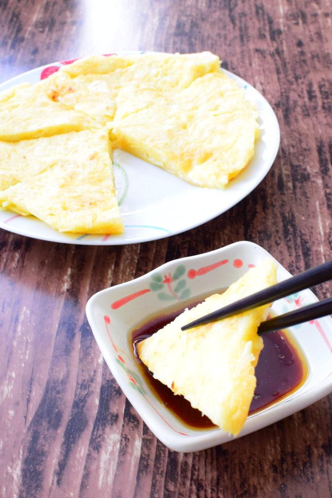 チーズとキャベツのしっとりチヂミのレシピ