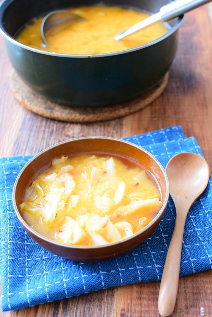 キャベツたっぷり!味噌スープのレシピ