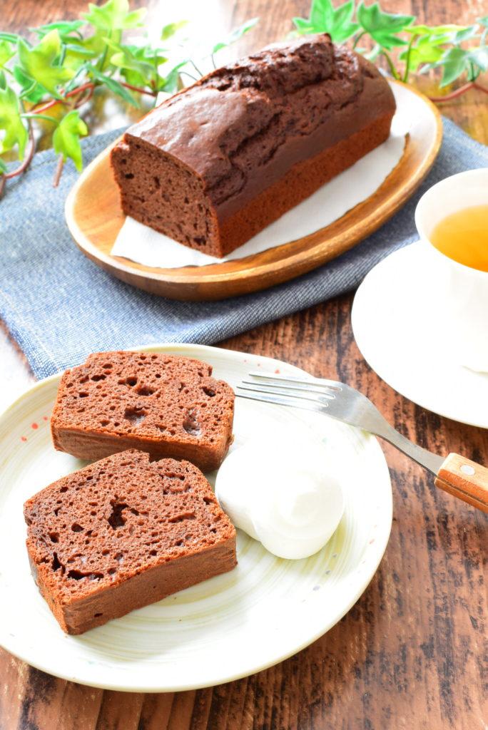 豆腐入り!ココアパウンドケーキのレシピ