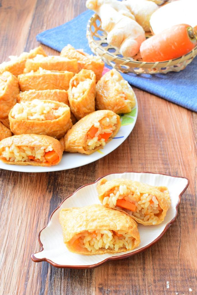 にんにく醤油の生姜入り炊き込みご飯いなり寿司のレシピ