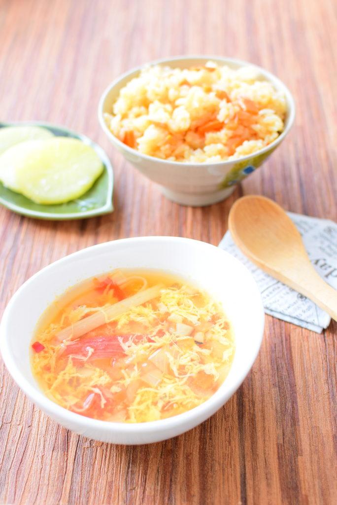 にんにく醤油のピリ辛スープのレシピ
