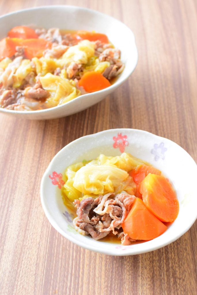 キャベツと豚バラのとろとろ煮のレシピ