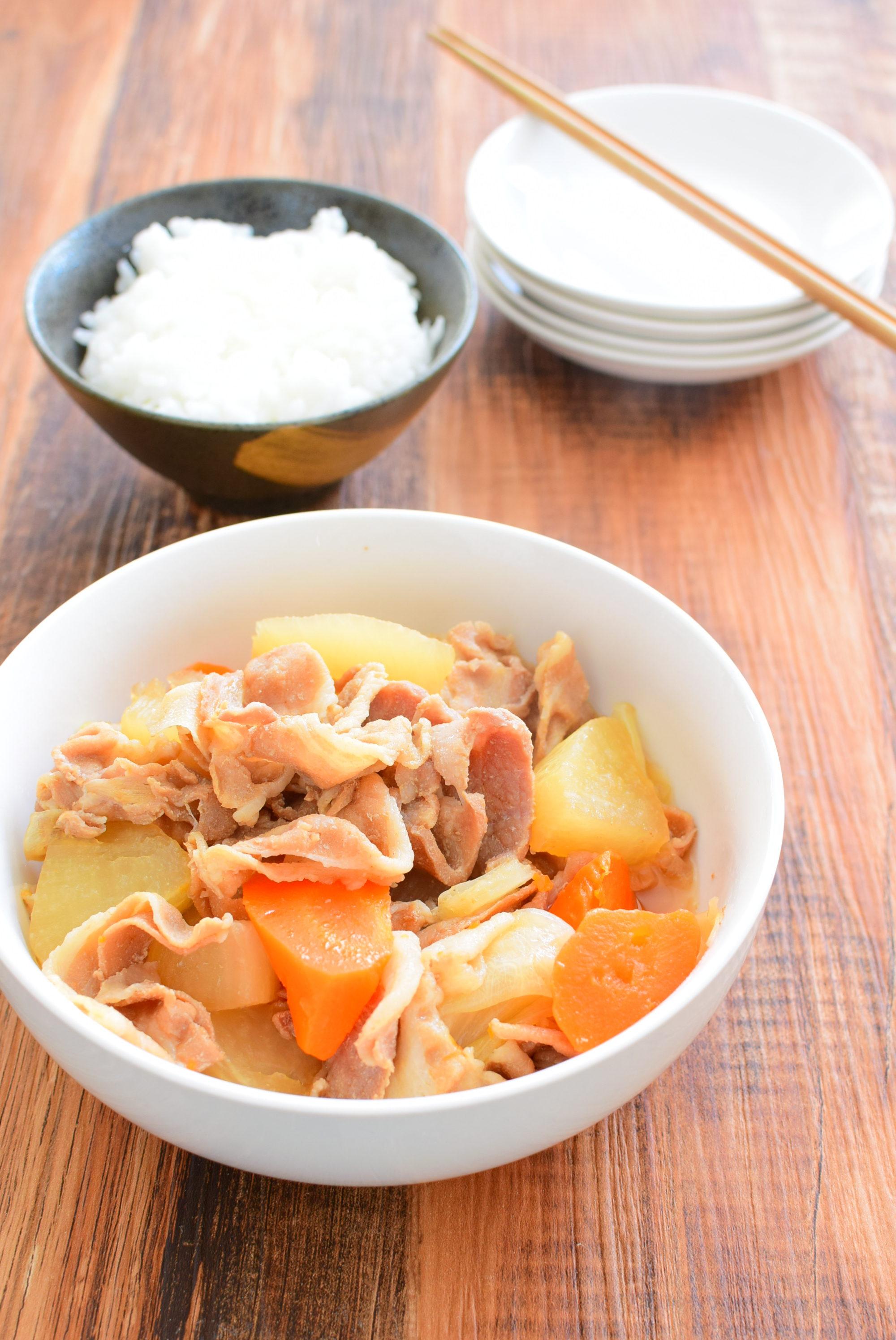 圧力鍋で柔らか!豚バラ大根のしょうゆ煮のレシピの写真