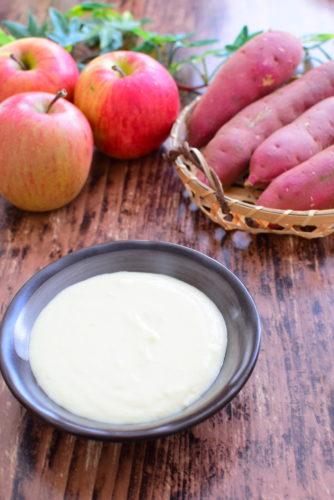 リンゴジャム入りさつまいもクリームのレシピの写真