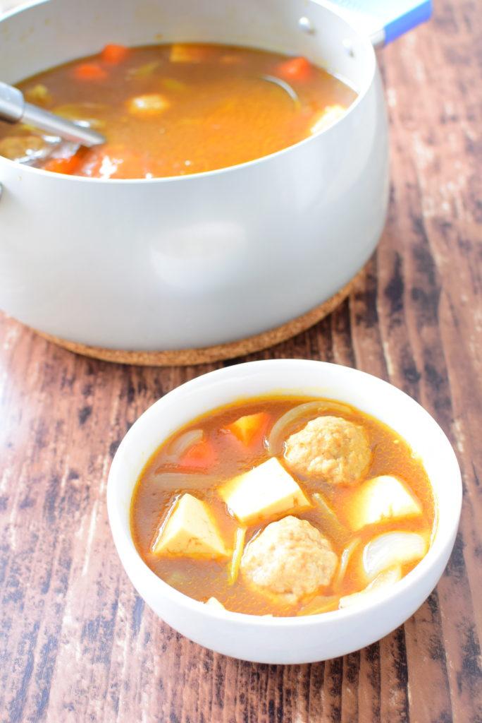 ルーで作る!肉団子のカレースープのレシピ