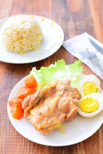 圧力鍋で作る!しっとり柔らか!鶏もも肉の生姜じょうゆ煮のレシピの写真