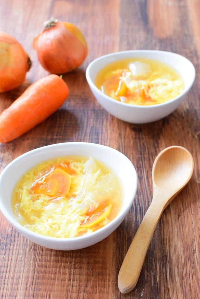 玉ねぎとろとろ!たまごコンソメスープのレシピ