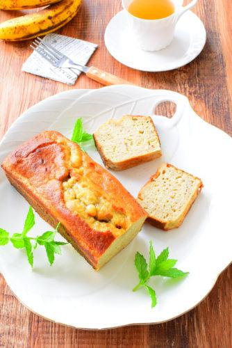 しっとりバナナパウンドケーキのレシピの写真