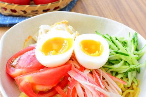 タレも美味しい!ゆで卵のせ!冷やし中華のレシピの写真