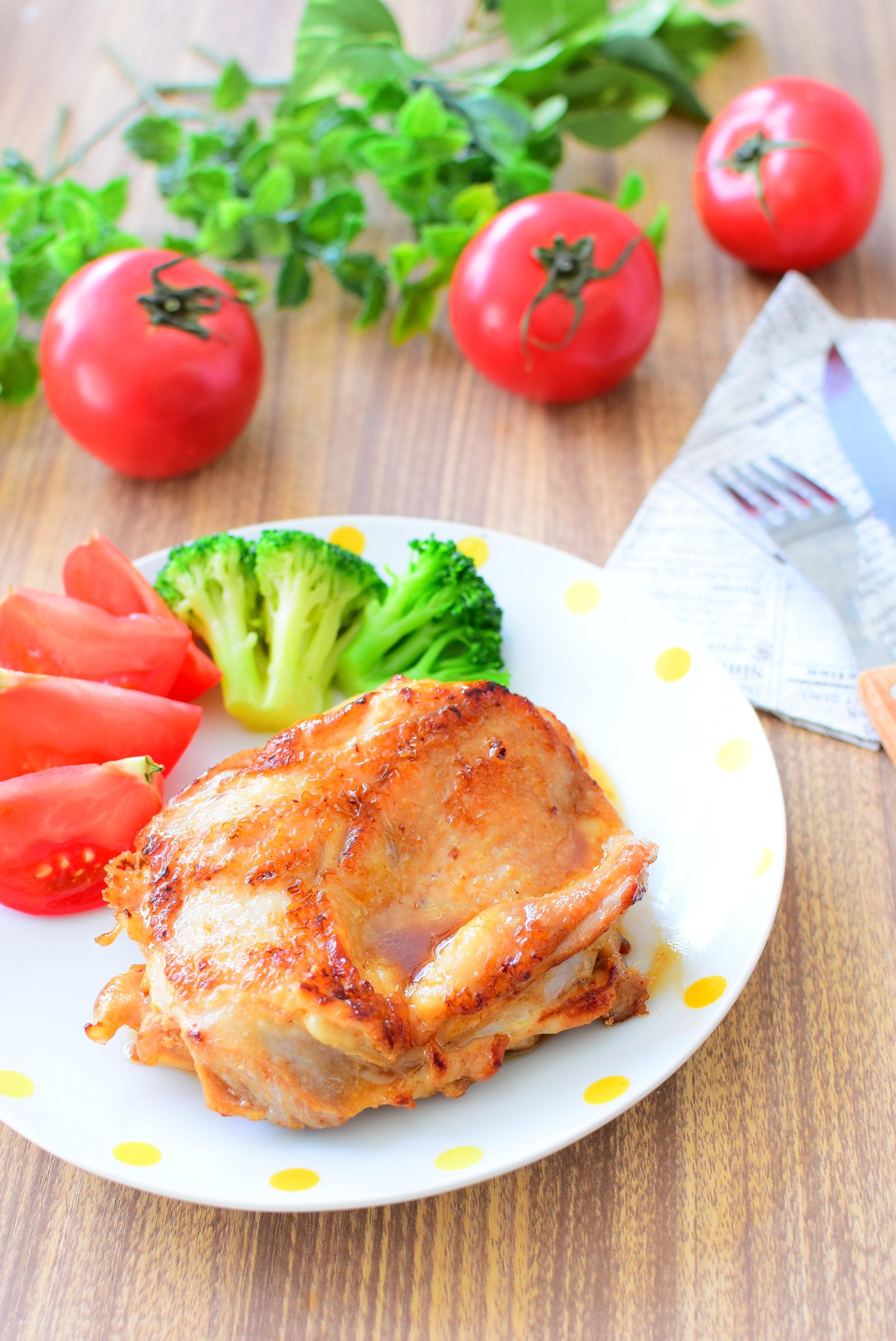 料理酒に漬けてやわらか!鶏ももステーキのレシピの写真
