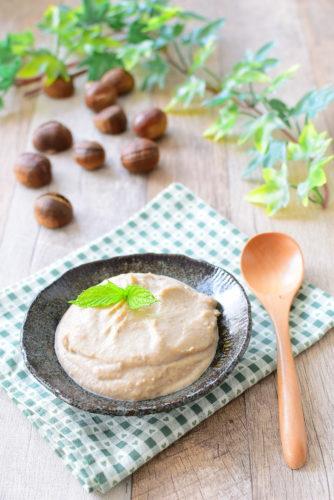 甘栗で簡単!マロンクリームのレシピの写真