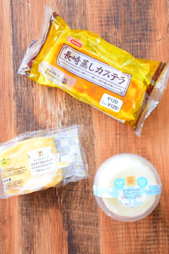 まっ白ミルクのスフレプリン、長崎蒸しカステラ、もっちりクレープの食レポ