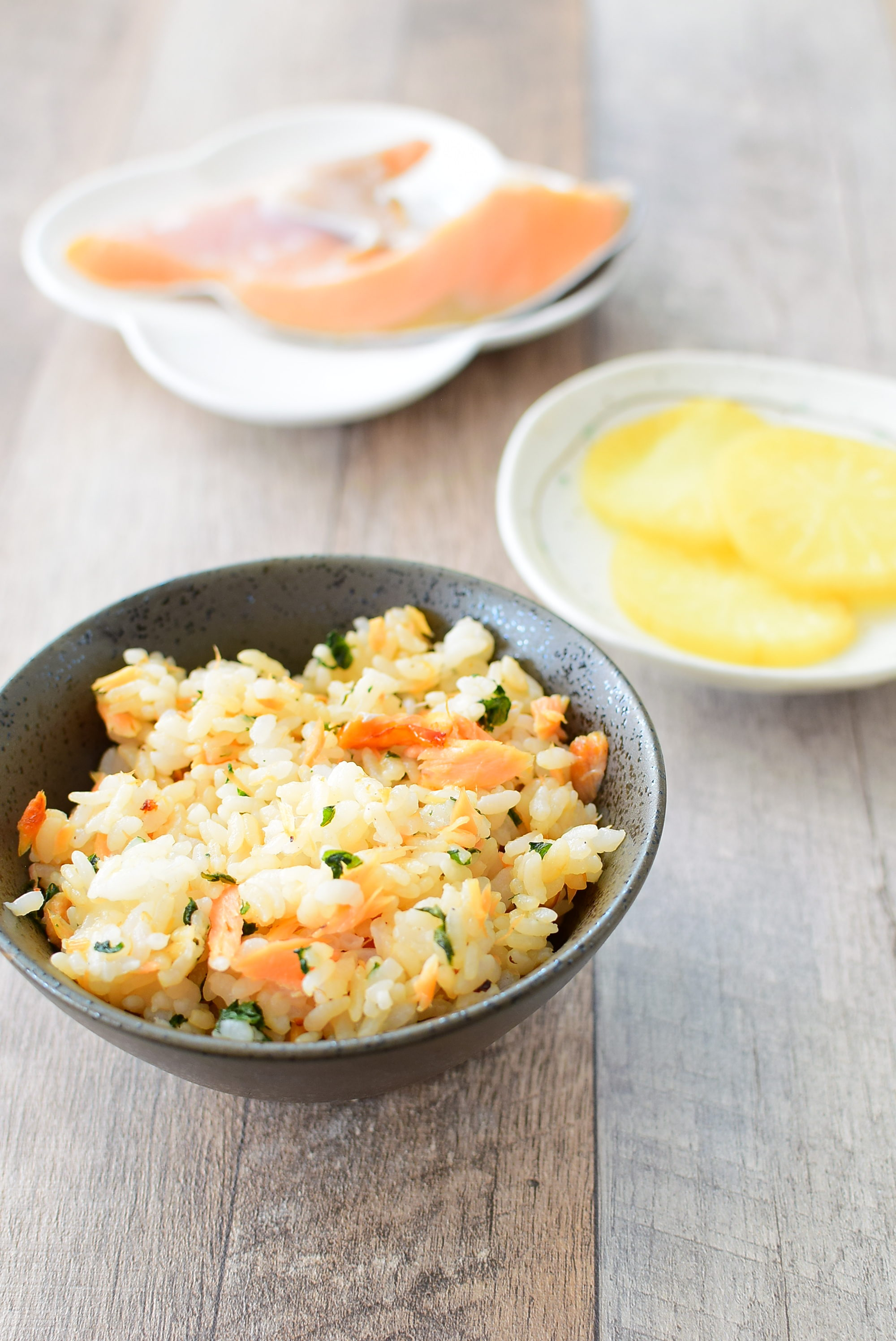 味付けは醤油だけ!鮭と大葉の混ぜご飯のレシピの写真