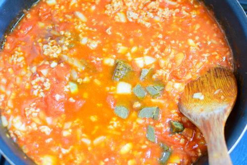 ホールトマト入りキーマカレーのレシピの写真
