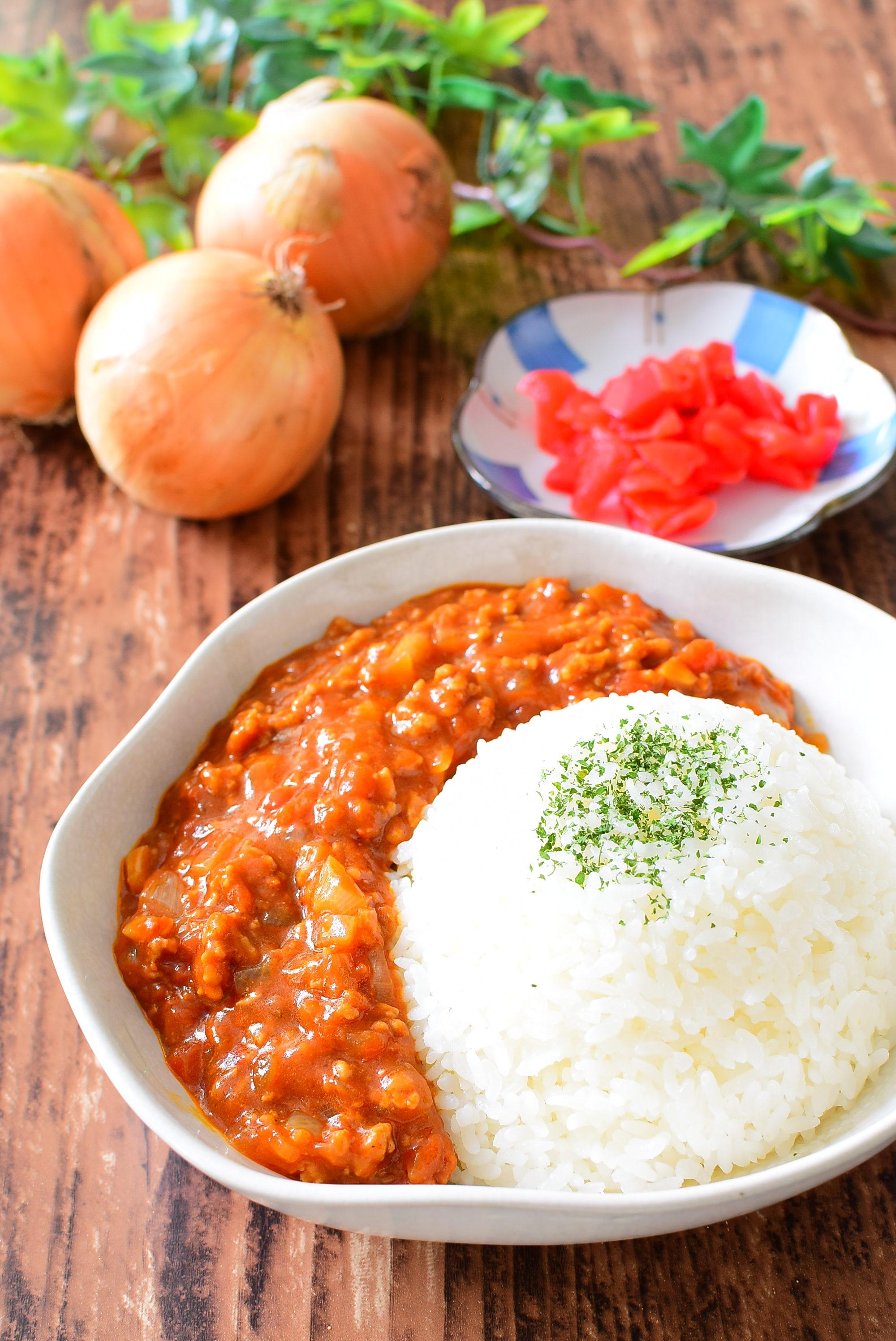 ホールトマト入りキーマカレーのレシピ