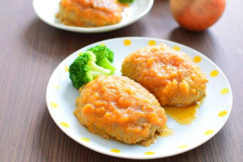 玉ねぎソースがけハンバーグのレシピの写真