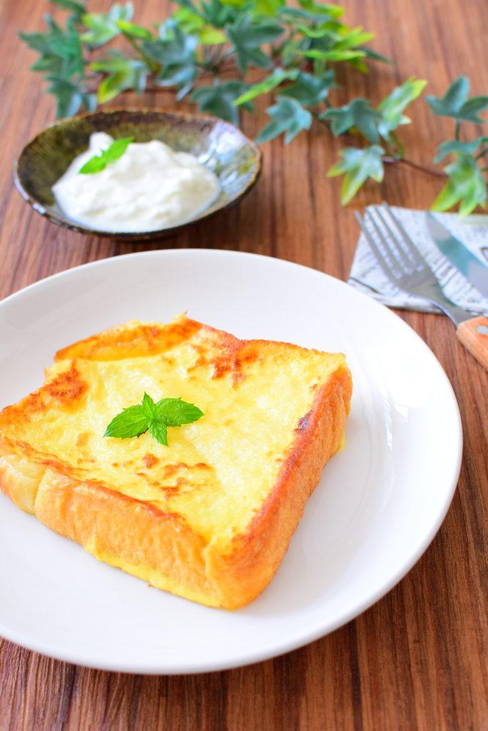 牛乳なし!ヨーグルトフレンチトーストのレシピ