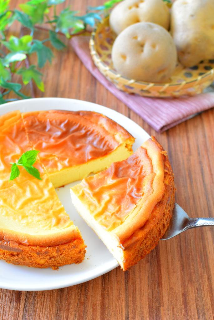 砂糖を使わない!あっさりじゃがいもチーズケーキのレシピ