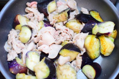 なすと豚バラのオイスターソース炒めのレシピ