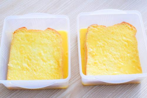 牛乳無し豆乳フレンチトーストのレシピの写真