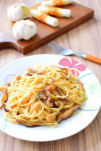 ガーリックオイマヨパスタのレシピの写真