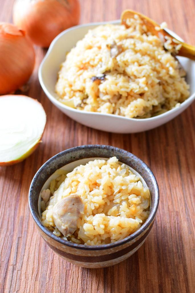 柔らか鶏もも入り炊き込みご飯のレシピ
