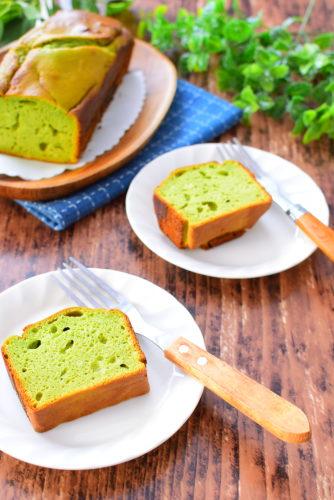 青汁入り豆腐のはちみつケーキのレシピの写真