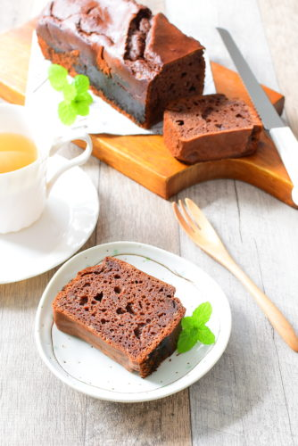 ノンバター!ノンシュガー!ココアパウンドケーキのレシピの写真