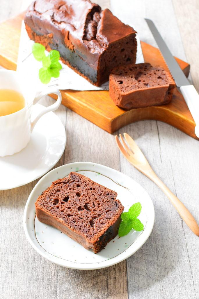 砂糖なし!バターなし!豆腐ココアパウンドケーキのレシピ