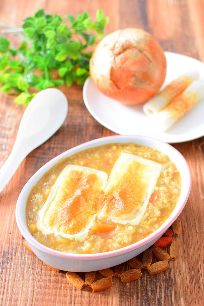 チーズ焼きカレー雑炊のレシピ