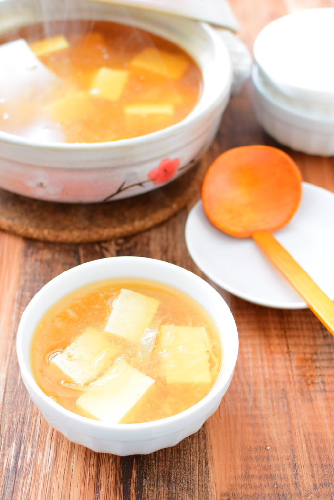 大根おろし入り豆腐しょうゆスープのレシピ