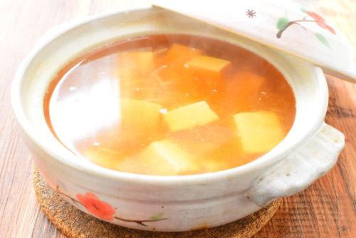 大根おろし入り豆腐しょうゆスープのレシピの写真