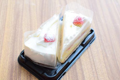 コンアフェットバスクチーズケーキ、函館牛乳を使ったクリームロール、苺ショートケーキの食レポの写真