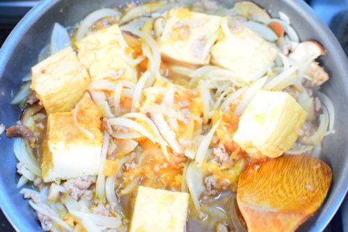 厚揚げと野菜のすりおろしりんご炒めのレシピの写真