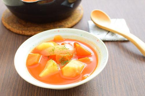 野菜オンリー!トマトジューススープのレシピの写真