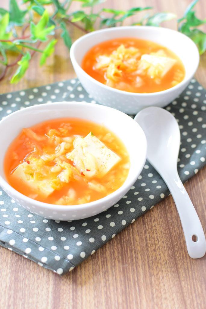 キムチ味噌スープのレシピ